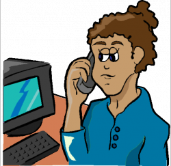 Office clipart office employee - Pencil and in color office clipart ...