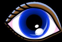 Pretty Blue Eyes Clipart