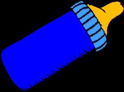 Baby Bottle Blue Clip Art at Clker.com - vector clip art online ...