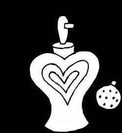 Perfume Bottle Line Art - Free Clip Art