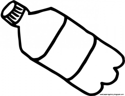 Great Of Water Bottle Clipart Black And White - Letter Master