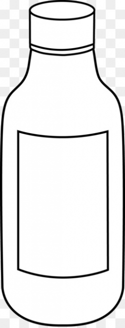Line art Bottle Black and white Drawing Clip art - Science Bottle ...