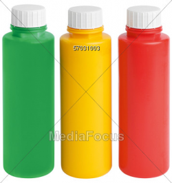 Stock Photo Three Color Plastic Bottles Clipart - Image 57031003 ...