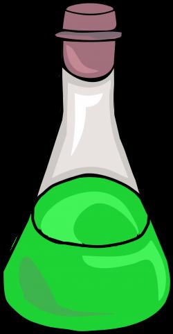 Clipart - Green Science Bottle