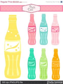 ON SALE soda pop bottle clip art party clip art Digital