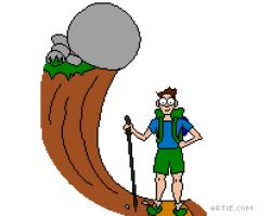 Boulder Falling on Hiker: ARG! Summer Cartoon