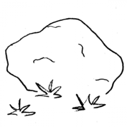 Boulder clipart black and white - Pencil and in color boulder ...