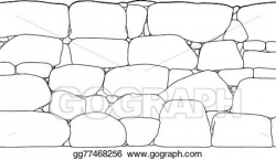 Vector Art - Rock wall outline. Clipart Drawing gg77468256 - GoGraph