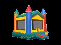 V-Roof Castle II 13 x 13 Bounce House - Bounce The Rock