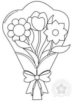 Flower bouquet clip art black and white | Flowers Templates