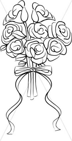 Rose Blossom Bridal Bouquet | Church Bouquet Clipart
