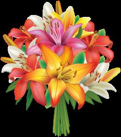 Lilies Flowers Bouquet PNG Clipart Image | Flowers | Pinterest ...