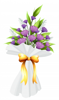 Purple Flowers Bouquet PNG Clipart Image   Gallery Yopriceville ...