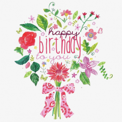 Cartoon Bouquet, Bouquet, Happy Birthday, English PNG Image and ...