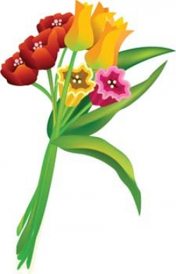Clipart Flower Bouquet. Clipart Of A Red Haired Boy Holding A Flower ...