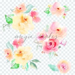 Watercolor Flower Bouquet Clip Art - Angie Makes Stock Shop