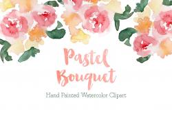 Pastel Watercolor Bouquet Clipart ~ Illustrations ~ Creative Market