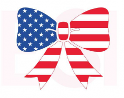 American flag svg, Bow design, 4th of July svg, Memorial day svg ...