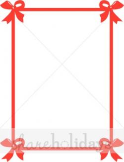 Red Bows Christmas Photo Frame | Christmas Ribbon Border
