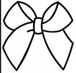 Cheer Bow Drawing at GetDrawings.com | Free for personal use Cheer ...