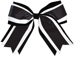 Amazon.com: Jumbo 3 Color Hair Bow Black: Clothing