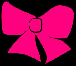 Pink Cheer Bows Clipart