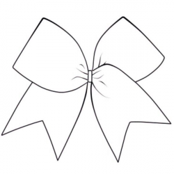 Cheerleading Bow Clipart Black And White - ClipartUse