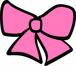 Pink Cheerleading Bow Clipart
