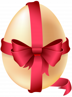 Easter Egg with Red Bow PNG Clip Art Image | Gallery Yopriceville ...