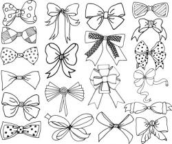 Bows clip art: BOWS CLIPART Doodle Ribbons Clip