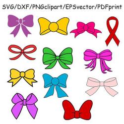 Bow SVG Bows Clipart Vector Printable Bow Cricut Silhouette Cameo ...