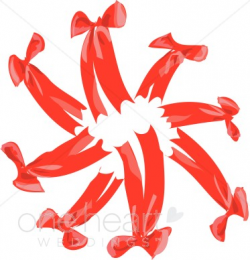 Red Bow Circle Clipart | Wedding Bow Clipart