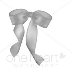 Gray Ribbon Clipart | Wedding Bow Clipart