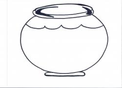 Spotlight Fish Bowl Coloring Page Empty 4895 #3277