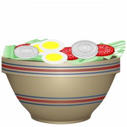 Clipart - Bowl of salad