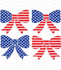 Flag Bow SVG - Flag SVG - Flag Bow Clip Art - Flag Clip Art - 4th of ...