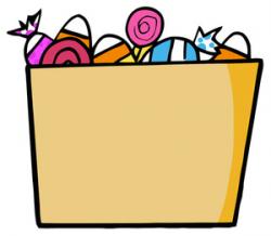 Halloween Candy Cartoon Clipart Image - Box or bag or halloween ...