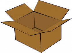 Box clipart cartoon - Pencil and in color box clipart cartoon