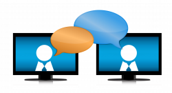 Online chat Internet Chat room Stock photography Clip art - Computer ...