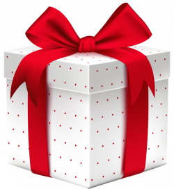 White Dotted Gift Box with PNG Clipart Image | бант | Pinterest ...