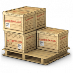 Pallet With Five Wooden Crates Icon, PNG ClipArt Image | IconBug.com