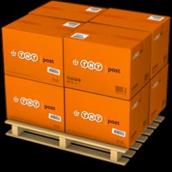 Orange Carton Boxes On A Pallet Icon, PNG ClipArt Image | IconBug.com