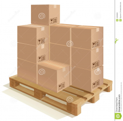Boxes On Pallet Clipart
