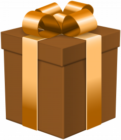 Gift Box Brown Transparent Clip Art Image | Gallery Yopriceville ...