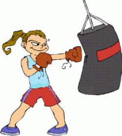 Heavy Bag Boxing Clipart