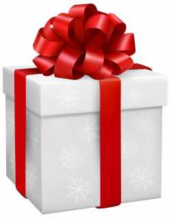 Gift Box with Snowflakes PNG Clipart - Best WEB Clipart