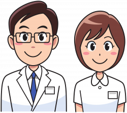 Clipart - Medicine doctor and nurse