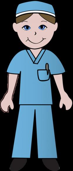Free Clip Art Of Doctors and Nurses: Nurse in Blue Scrubs | ETC ...