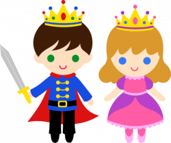 Free clip art of a cute little prince and princess | Sweet Clip Art ...