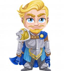 Vector Charming Blond Knight Character - Dwight the Brave Knight ...